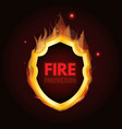 fire protection system logo vector image vector image