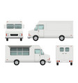 food truck realistic white automobile of street vector image vector image