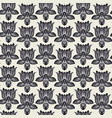 grayscale lotus flowers seamless pattern vector image