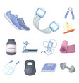 gym and training cartoon icons in set collection vector image