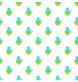 Hemp oil jug pattern cartoon style vector image vector image