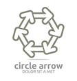 hexagon arrow brown design symbol icon vector image vector image