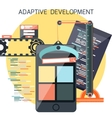 Icons for adaptive development vector image vector image