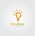 idea easy logo vector image vector image