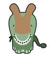 isolated cute dinosaur cartoon character vector image