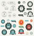 Label And Ribbon retro style set vector image vector image