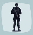 man of specialized tactical team vector image vector image