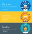 Medicine Business Building Flat Design Concepts vector image