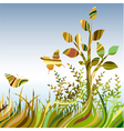 multicolour abstract landscare vector image