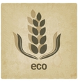 organic grain old background vector image vector image