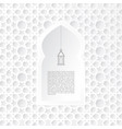 ornamental mosque window with hanging lantern icon vector image