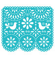 papel picado template design mexican vector image vector image