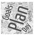 Planning to Improve your Personal Life Word Cloud vector image vector image