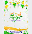 poster happy independence day in india vector image