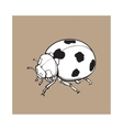 Red ladybug ladybird with black spots isolated vector image
