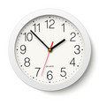 Round wall clock with white body isolated vector image vector image