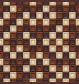 seamless pattern made chocolate cubes sweets vector image vector image