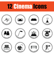 Set of cinema icons vector image vector image