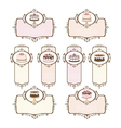 Set of labels with cakes vector image vector image