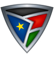 steel shield with flag south sudan vector image vector image