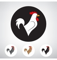 Stylized silhouette of a rooster vector image vector image