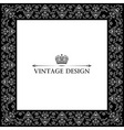 vector vintage royal retro frame ornament black vector image vector image