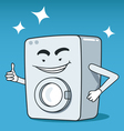 Washing machine character vector image vector image
