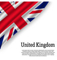 waving flag on white background vector image vector image