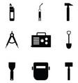 welding icon set vector image vector image
