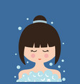 with girl in shower vector image