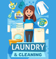woman washing clothes laundry vector image vector image