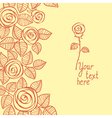 Cute background made of rose vector image