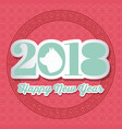 happy new year 2018 calendar chinese of the dog vector image