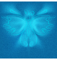 Futuristic butterfly vector image