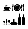 Restaurant objects vector image