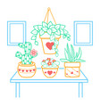 a room houseplant vector image vector image
