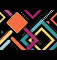 abstract colorful geometric square shapes stripes vector image