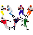american football players vs vector image