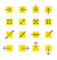 arrow line collection touch screen gestures icons vector image vector image