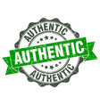 authentic stamp sign seal vector image vector image