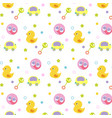 baby pattern for textile or fabric background vector image vector image