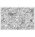 baby shop doodle set vector image