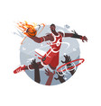basketball player with ball vector image vector image