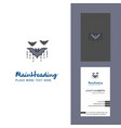 bat creative logo and business card vertical vector image vector image