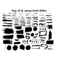 big set of different grunge brush strokes vector image