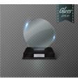 Blank glass trophy award on a transparent