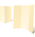 blank white booklet template vector image