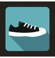 Blue sneaker icon flat style vector image vector image