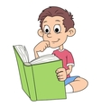 Boy is reading a book 2 vector image