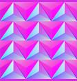 bright pink triangle pattern vector image vector image